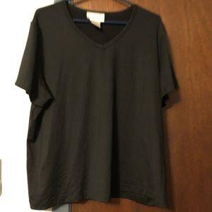 Susan Graver v-neck short sleeve shirt
